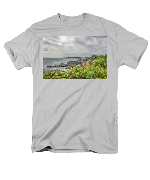 Men's T-Shirt  (Regular Fit) featuring the photograph Rocky Maine Shoreline by Jane Luxton