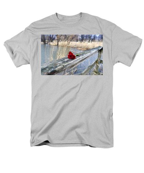Men's T-Shirt  (Regular Fit) featuring the photograph Rose On A Bridge by Verana Stark