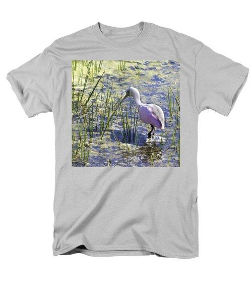 Roseate Spoonbill IIi Men's T-Shirt  (Regular Fit) by Susan Molnar