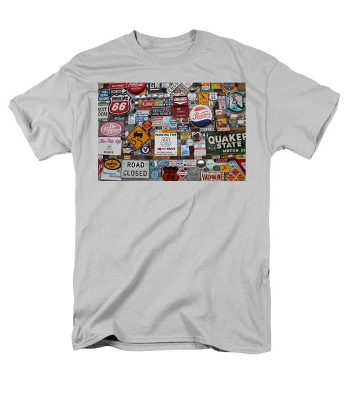 Route 66 Signs Men's T-Shirt  (Regular Fit) by Lynn Sprowl