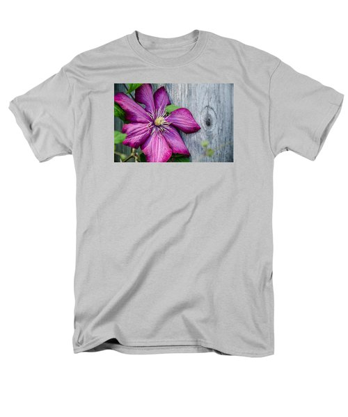 Men's T-Shirt  (Regular Fit) featuring the photograph Rustic Clematis by Susan  McMenamin