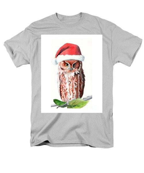 Santa Owl Men's T-Shirt  (Regular Fit) by LeAnne Sowa