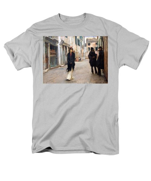 Sargent's Street In Venice Men's T-Shirt  (Regular Fit) by Cora Wandel