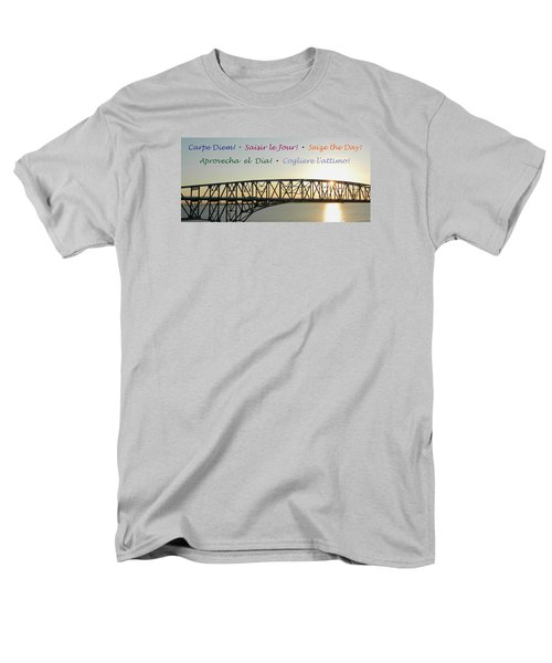 Seize The Day - Annapolis Bay Bridge Men's T-Shirt  (Regular Fit) by Emmy Marie Vickers