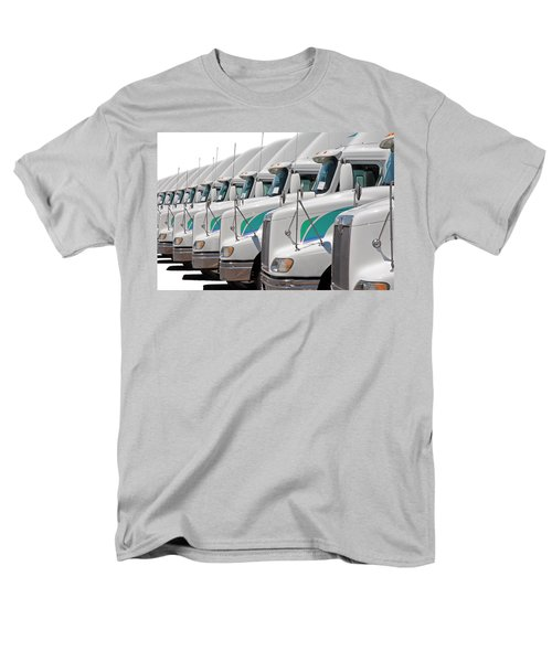 Semi Truck Fleet Men's T-Shirt  (Regular Fit) by Gunter Nezhoda