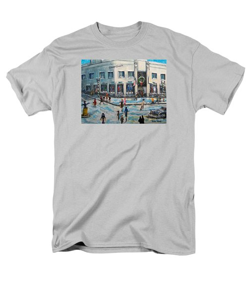 Men's T-Shirt  (Regular Fit) featuring the painting Shopping At Grover Cronin by Rita Brown