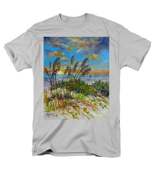 Siesta Beach Sunset Dunes Men's T-Shirt  (Regular Fit) by Lou Ann Bagnall