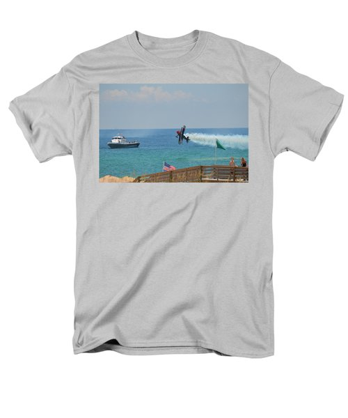 Men's T-Shirt  (Regular Fit) featuring the photograph Skip Stewart Extreme Low-level Practice by Jeff at JSJ Photography