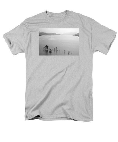 Men's T-Shirt  (Regular Fit) featuring the photograph Skc 0055 A Hazy Riverscape by Sunil Kapadia