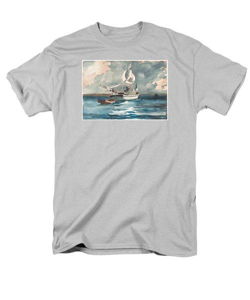 Sloop  Nassau Bahamas Men's T-Shirt  (Regular Fit) by Winslow Homer