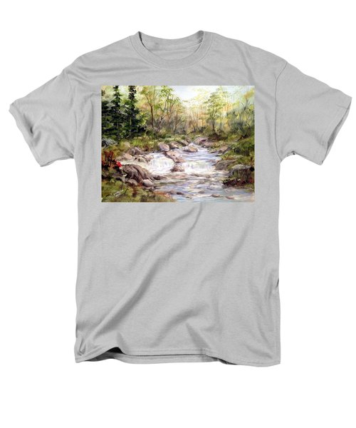 Small Falls In The Forest Men's T-Shirt  (Regular Fit) by Dorothy Maier