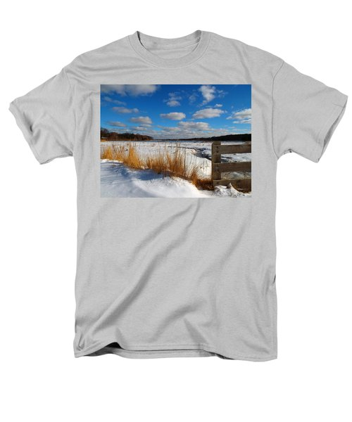 Men's T-Shirt  (Regular Fit) featuring the photograph Snow Marsh by Dianne Cowen