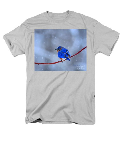 Snowy Bluebird Men's T-Shirt  (Regular Fit) by Nava Thompson