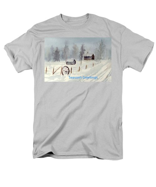 Snowy Road Men's T-Shirt  (Regular Fit) by Christine Lathrop