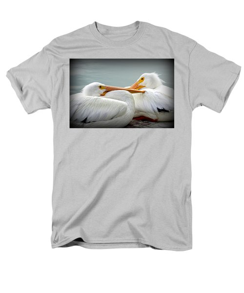 Snuggly Pelicans Men's T-Shirt  (Regular Fit) by Laurie Perry