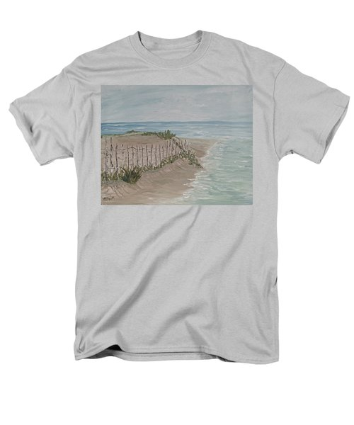 Men's T-Shirt  (Regular Fit) featuring the painting Soft Sea by Barbara McDevitt