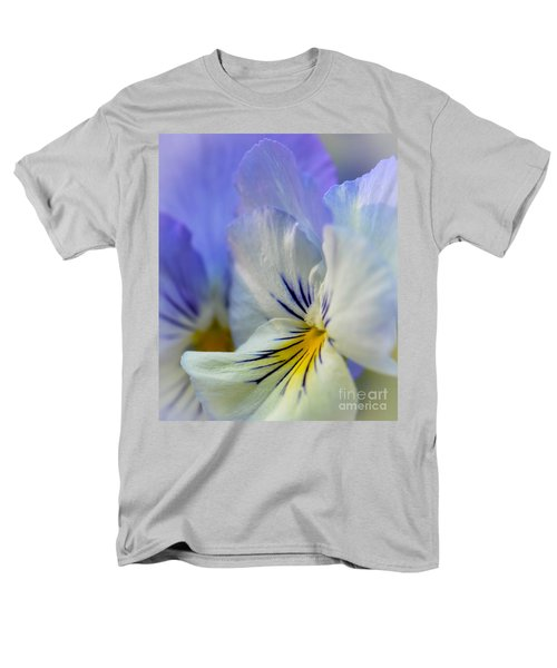 Soft White Pansy Men's T-Shirt  (Regular Fit) by Amy Porter