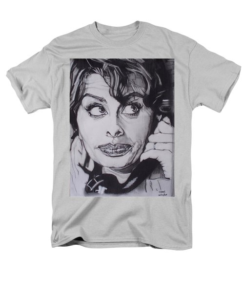 Sophia Loren Telephones Men's T-Shirt  (Regular Fit) by Sean Connolly