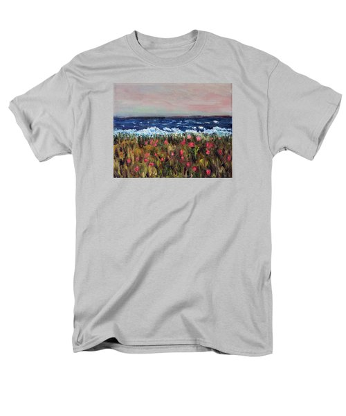 Men's T-Shirt  (Regular Fit) featuring the painting South Cape Beach Sunset by Michael Helfen