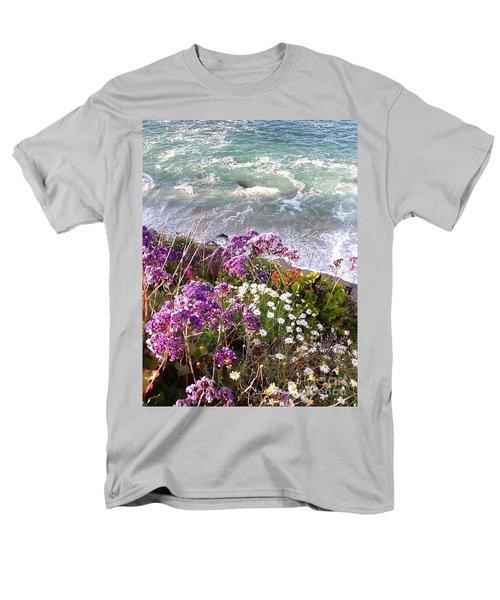 Men's T-Shirt  (Regular Fit) featuring the photograph Spring Greets Waves by Susan Garren