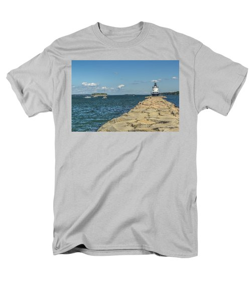 Men's T-Shirt  (Regular Fit) featuring the photograph Spring Point Ledge Lighthouse by Jane Luxton