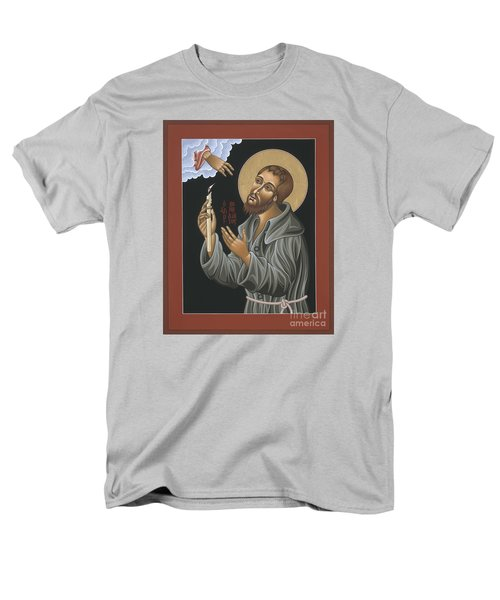 Men's T-Shirt  (Regular Fit) featuring the painting St. Benedict Joseph Labre 062 by William Hart McNichols