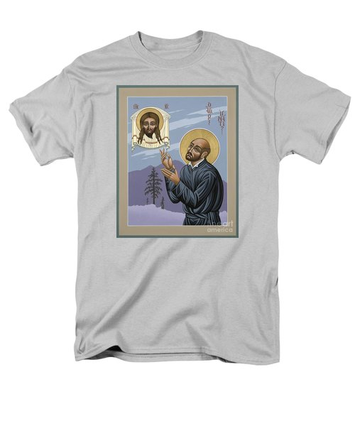 Men's T-Shirt  (Regular Fit) featuring the painting St. Ignatius Amidst Alaska 141 by William Hart McNichols