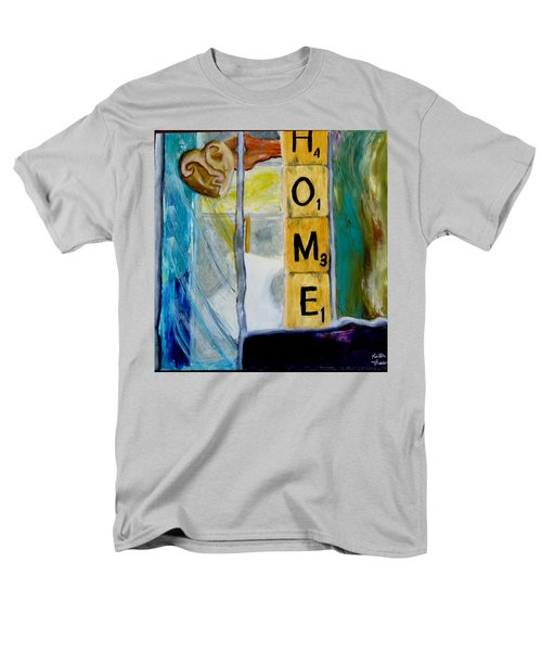 Stained Glass Home Men's T-Shirt  (Regular Fit) by Keith Thue