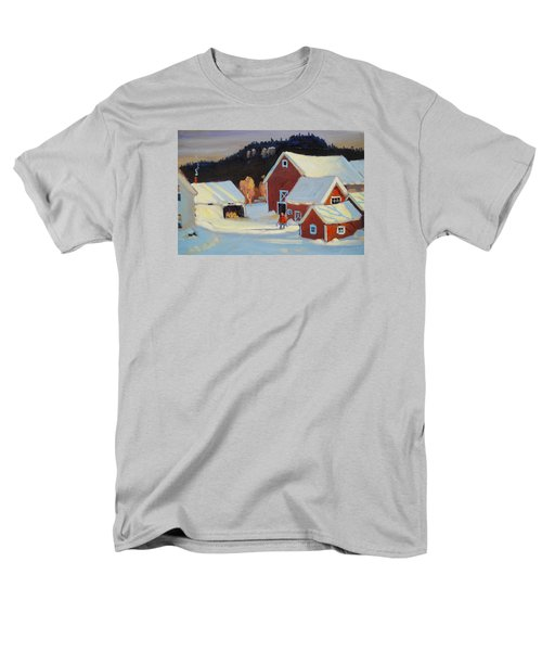 Men's T-Shirt  (Regular Fit) featuring the painting Stanley Kay Farm by Len Stomski