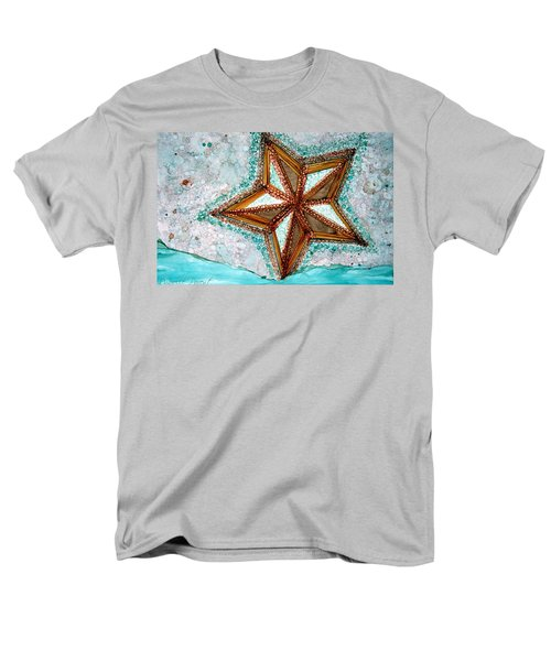 Starfish On The Beach Alcohol Inks Men's T-Shirt  (Regular Fit)