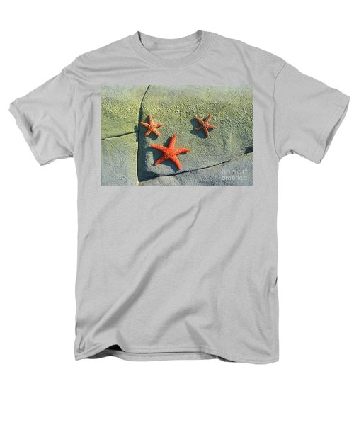 Starfish On The Rocks Men's T-Shirt  (Regular Fit) by Luther Fine Art