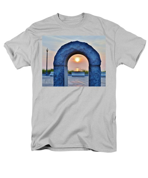 Sunrise Through The Arch - Rehoboth Beach Delaware Men's T-Shirt  (Regular Fit)