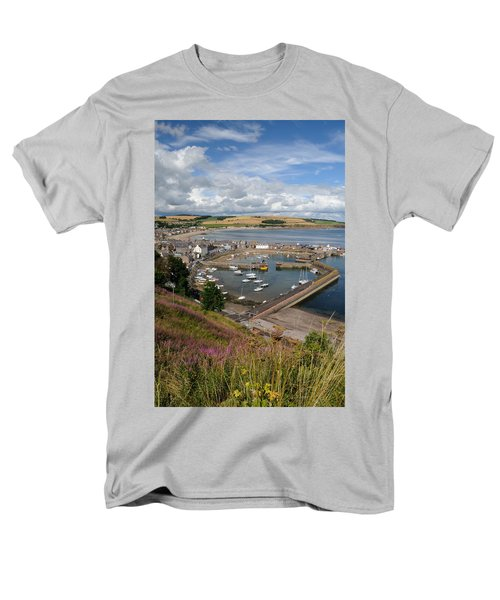 Men's T-Shirt  (Regular Fit) featuring the photograph Stonhaven Harbour  Scotland by Jeremy Voisey
