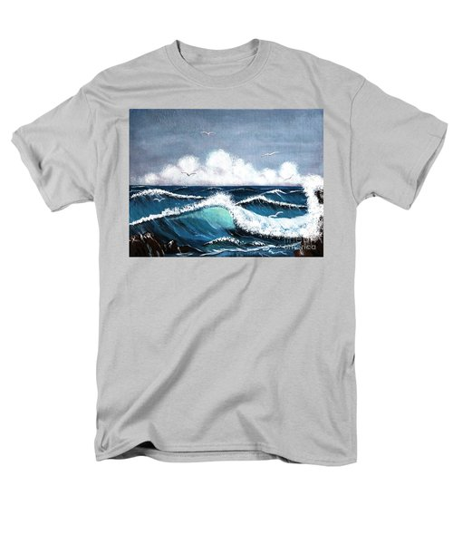 Storm At Sea Men's T-Shirt  (Regular Fit) by Barbara Griffin