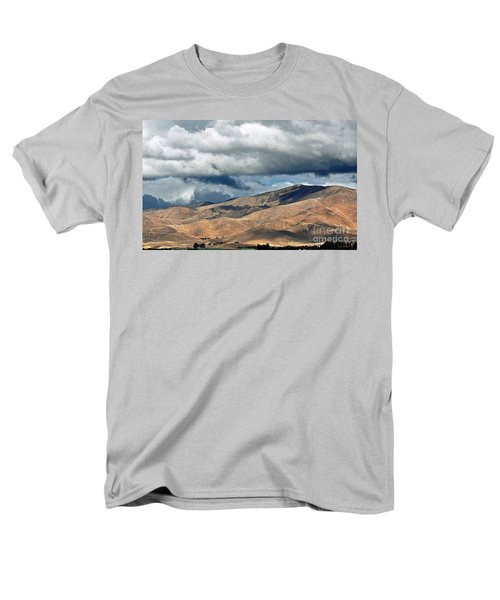 Storm Clouds Floating Above Mountains Men's T-Shirt  (Regular Fit) by Susan Wiedmann