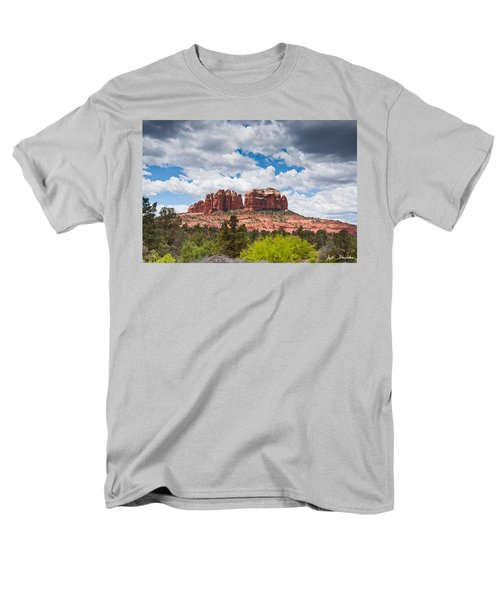 Men's T-Shirt  (Regular Fit) featuring the photograph Storm Clouds Over Cathedral Rocks by Jeff Goulden