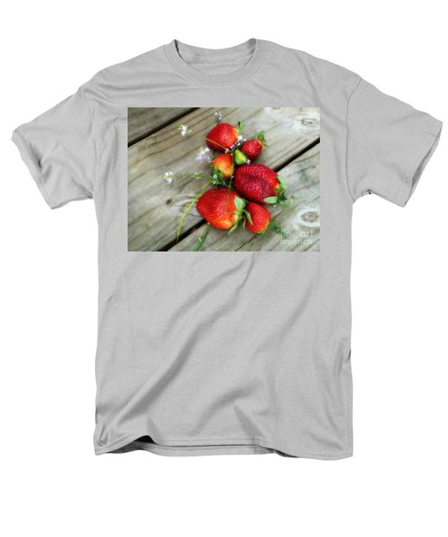 Men's T-Shirt  (Regular Fit) featuring the digital art Strawberrries by Valerie Reeves
