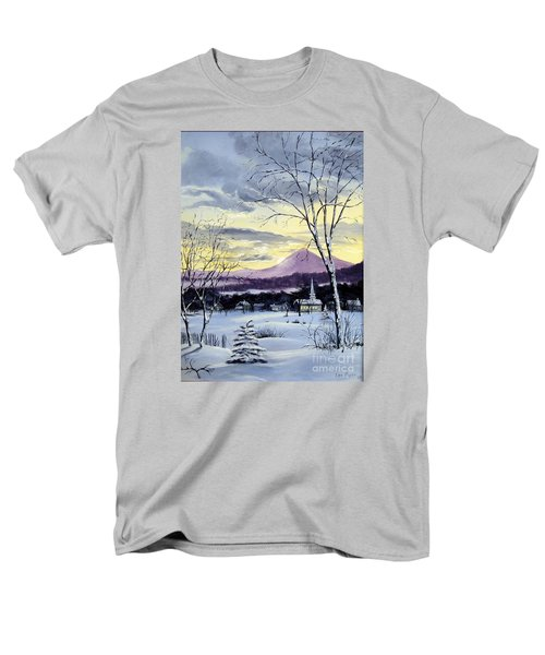 Men's T-Shirt  (Regular Fit) featuring the painting Sunday In Winter by Lee Piper