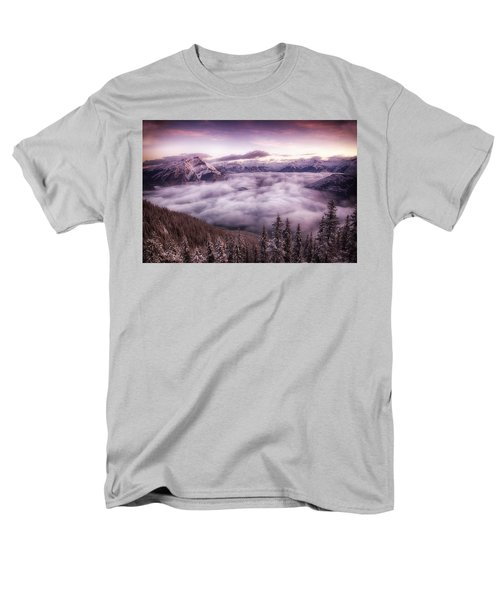 Sunrise Over The Canadian Rockies Men's T-Shirt  (Regular Fit) by Diane Dugas