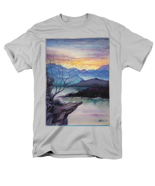 Sunset Montains Men's T-Shirt  (Regular Fit) by Alban Dizdari