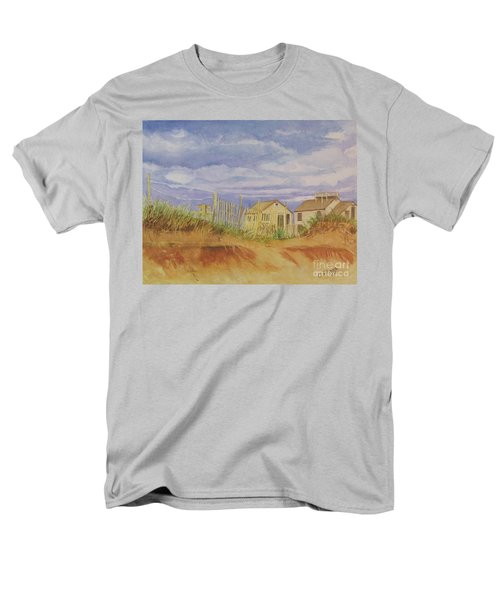 Men's T-Shirt  (Regular Fit) featuring the painting Sunset Nantucket Beach by Carol Flagg