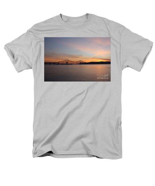 Sunset Over The Tappan Zee Bridge Men's T-Shirt  (Regular Fit) by John Telfer
