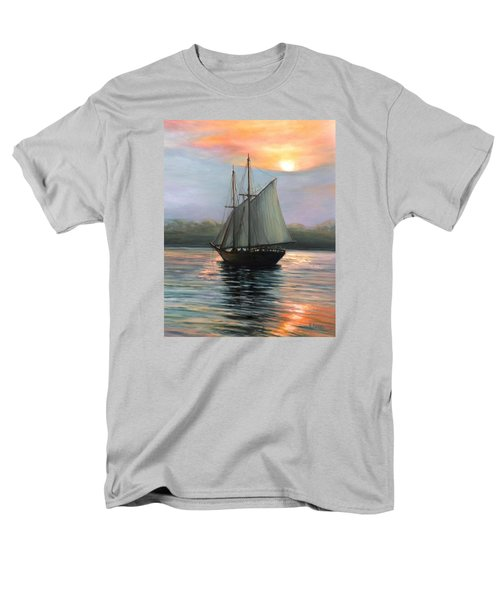 Sunset Sails Men's T-Shirt  (Regular Fit) by Eileen Patten Oliver