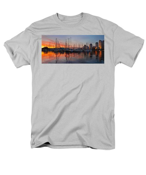 Men's T-Shirt  (Regular Fit) featuring the photograph Sunset View From Charleson Park In Vancouver Bc by JPLDesigns