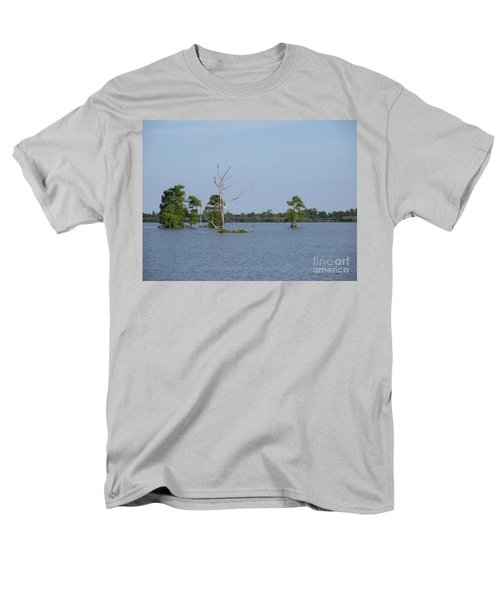 Men's T-Shirt  (Regular Fit) featuring the photograph Swamp Cypress Trees by Joseph Baril