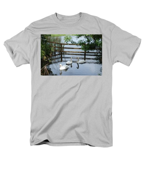 Swans In The Pond Men's T-Shirt  (Regular Fit) by Beverly Stapleton