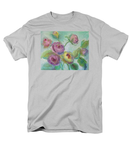 Men's T-Shirt  (Regular Fit) featuring the painting Sweetness Floral Painting by Mary Wolf