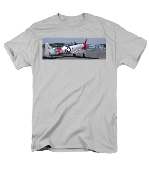 Men's T-Shirt  (Regular Fit) featuring the photograph T 6 Navy Trainer by James C Thomas