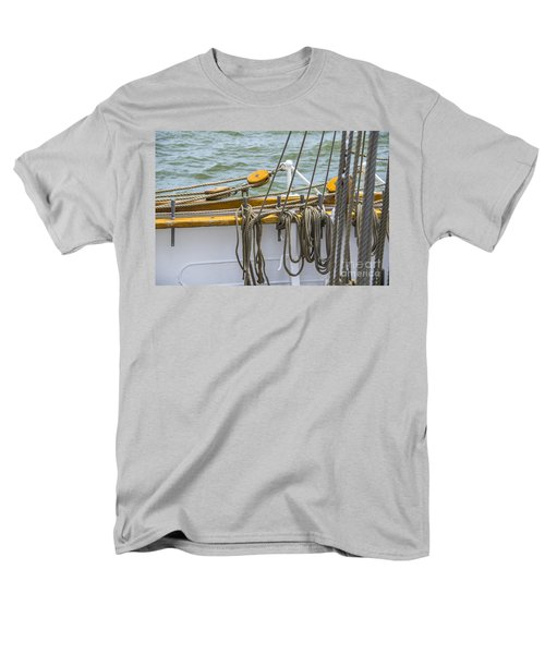 Men's T-Shirt  (Regular Fit) featuring the photograph Tall Ship Rigging by Dale Powell