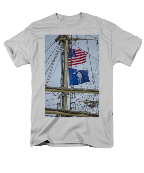 Men's T-Shirt  (Regular Fit) featuring the photograph Tall Ships Flags by Dale Powell